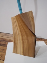 Excalibur 1864, 2012, cast plastic, paint, tulip poplar log