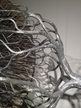 Law of Conservation of Mass in an Expanding Universe, 2012, aluminum, plastic, glitter